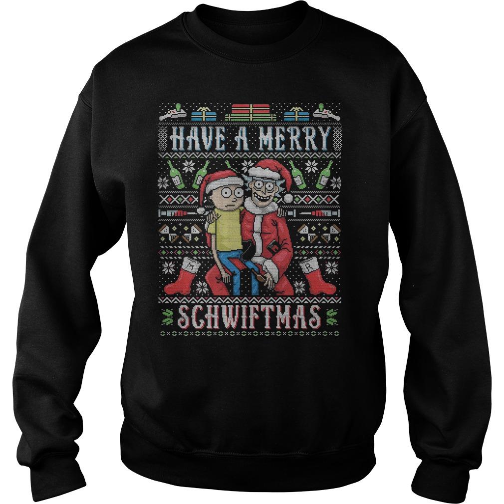 Rick Morty Merry Schwiftmas Sweat Shirt