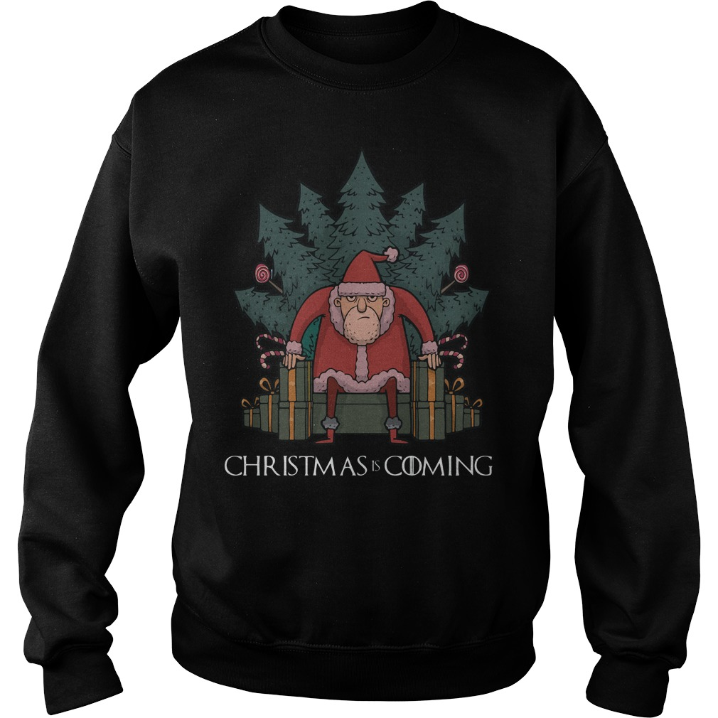 Santa Thrones Christmas Coming Sweater