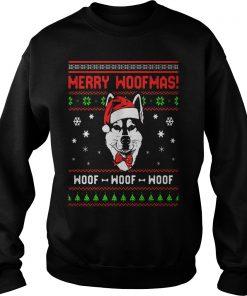 Siberian Husky Dog Merry Woofmas Sweat Shirt