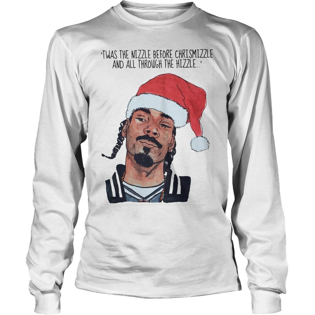 Snoop Dogg Twas Nizzle Christmizzle Unisex Longsleeve Tee