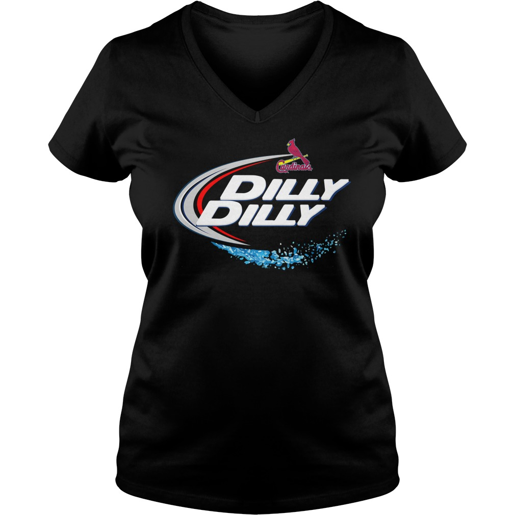 St Louis Cardinals Dilly Dilly Ladies V Neck