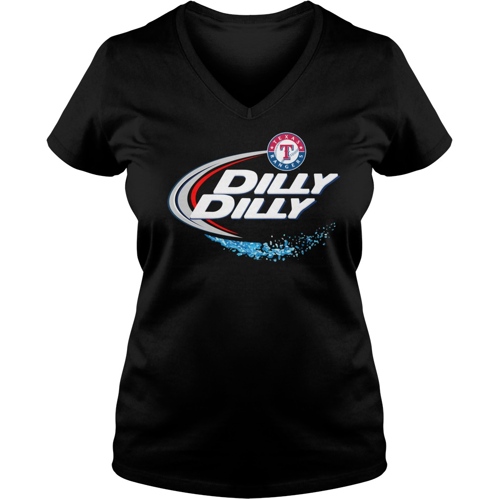 Texas Rangers Dilly Dilly Ladies V Neck