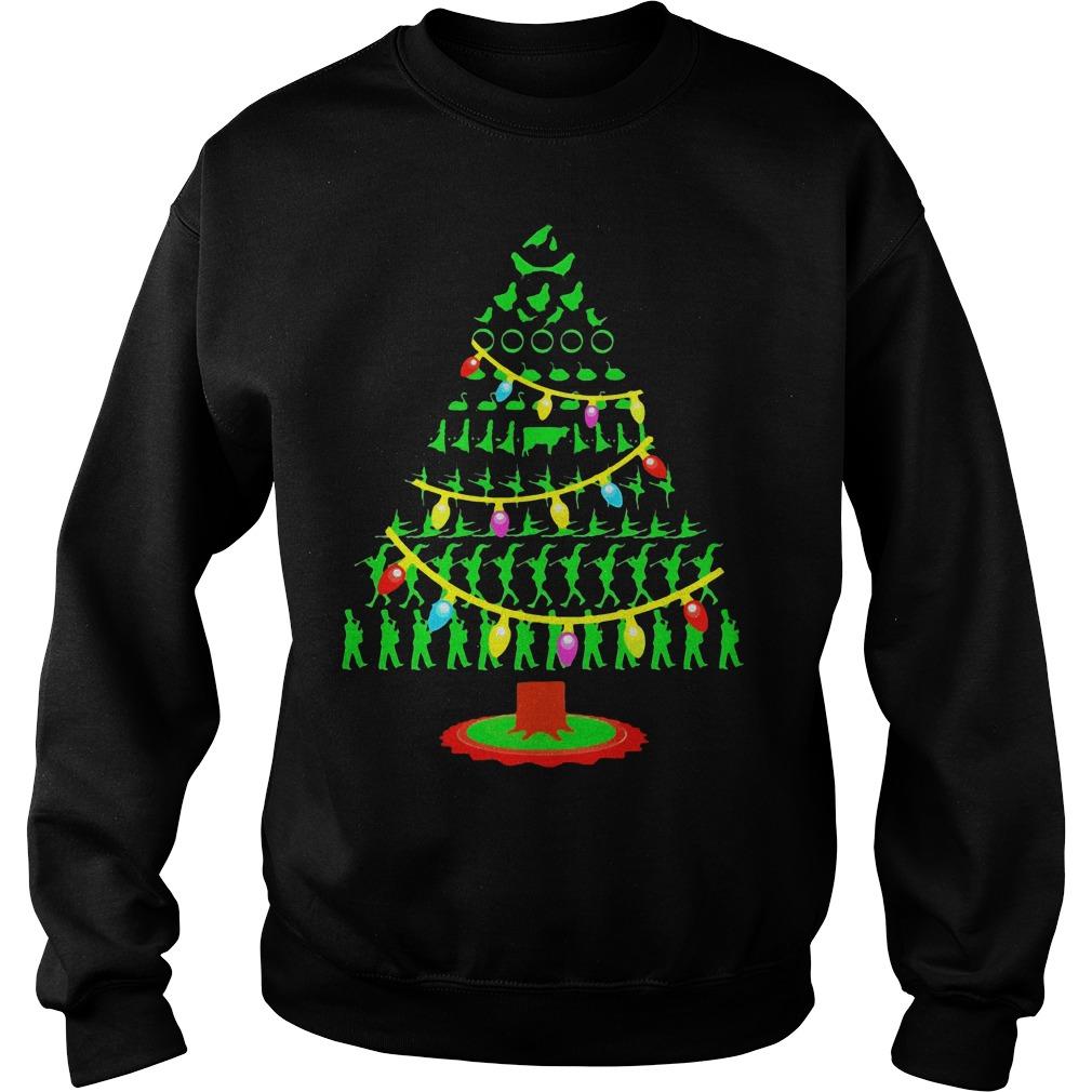 Twelve Days Christmas Tree Sweater