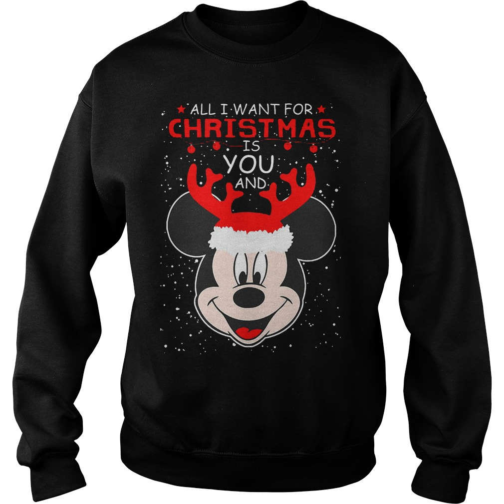 Want Christmas Mickey Mouse Sweater