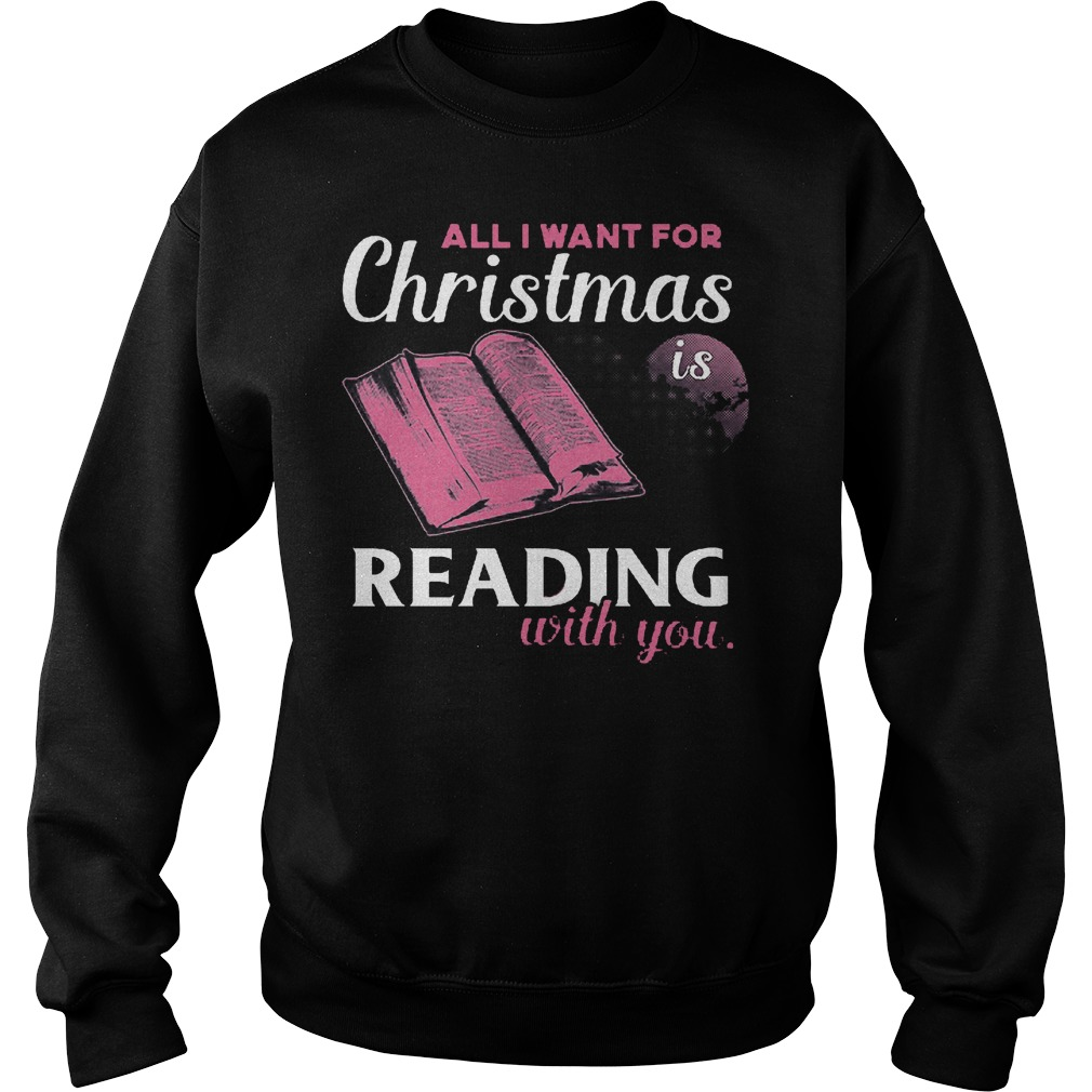 Want Christmas Reading Sweater