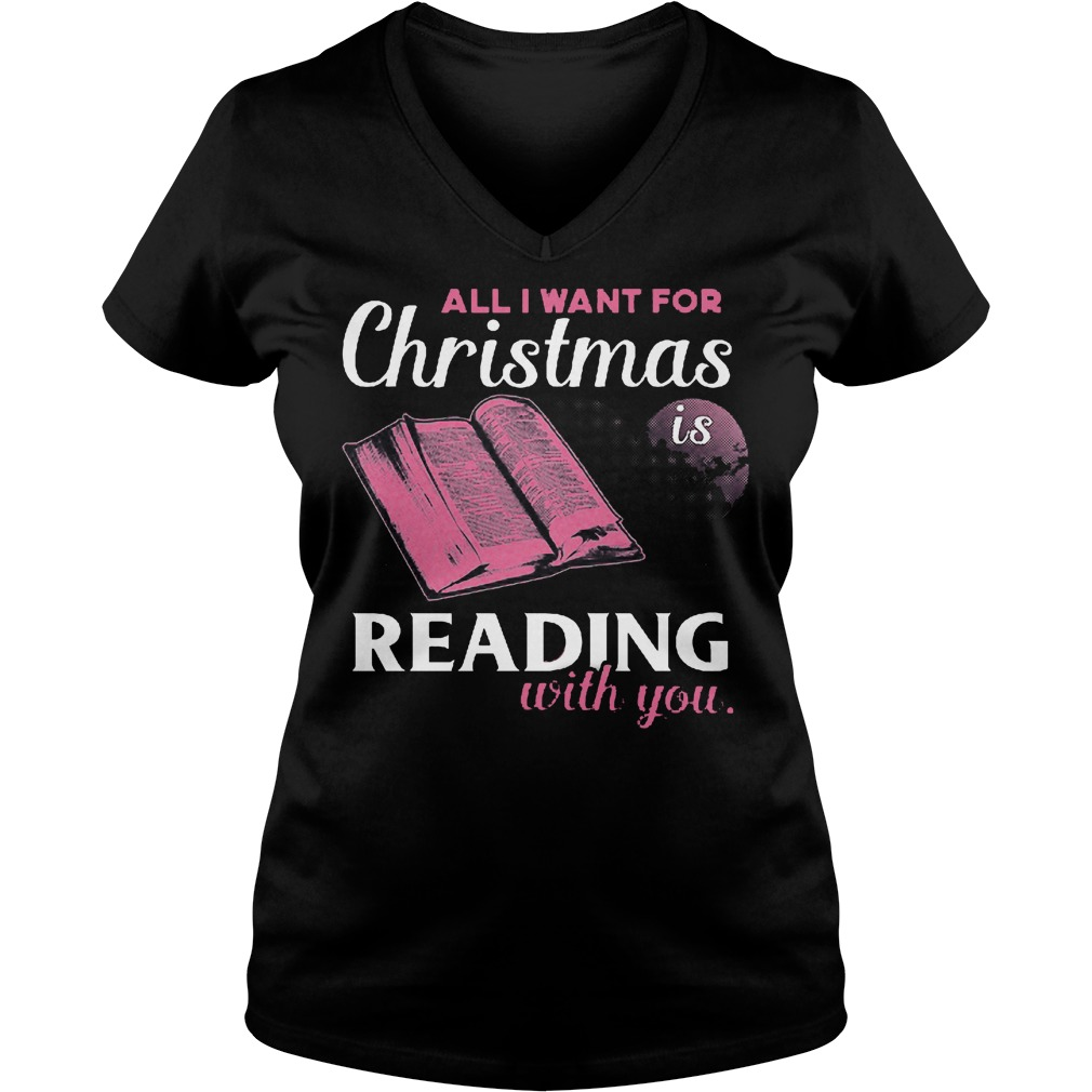Want Christmas Reading V Neck