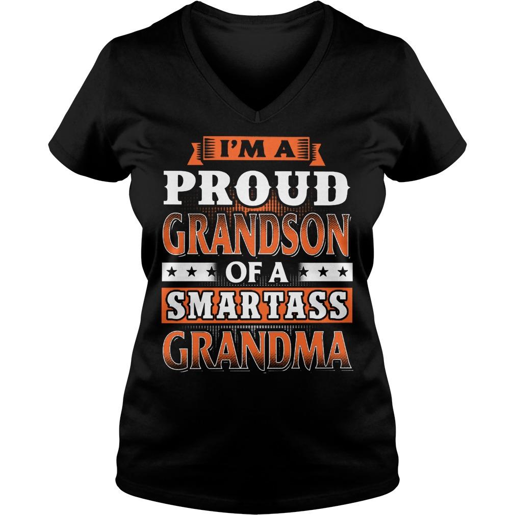 Proud Grandson Of A Smartass Grandma V Neck
