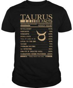 Taurus Facts Shirt