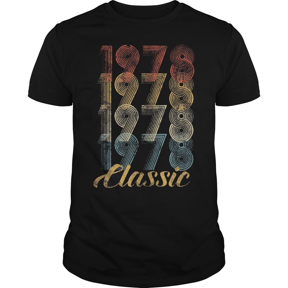 40th Birthday Gift Vintage 1978 Shirt
