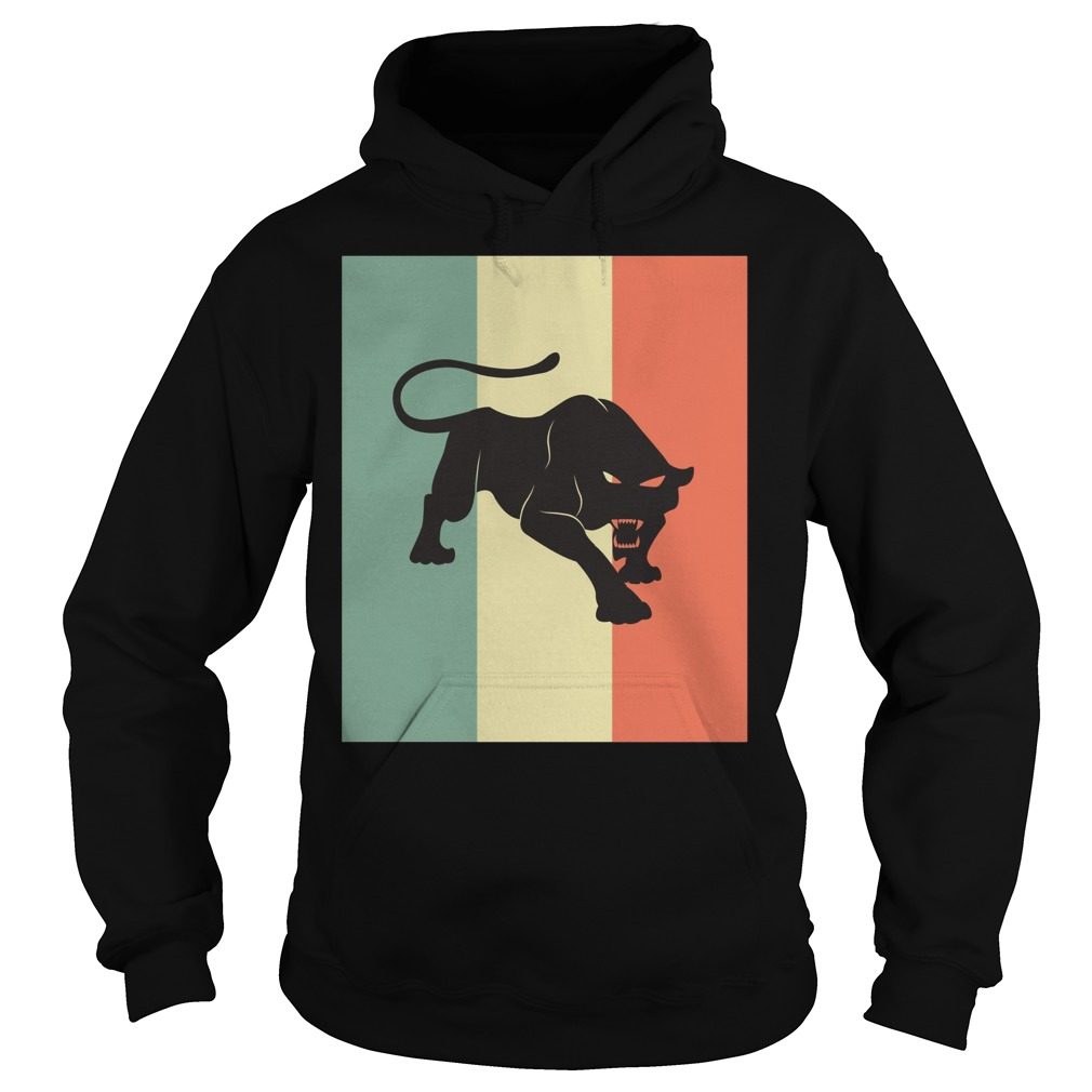 Black Panther Silhouette Hoodie