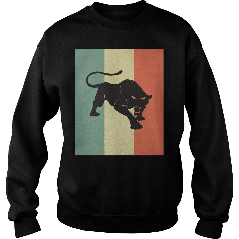 Black Panther Silhouette Sweater