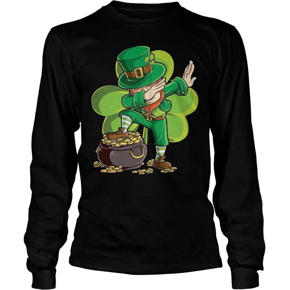 Dabbing Leprechaun St Patricks Day Longsleeve