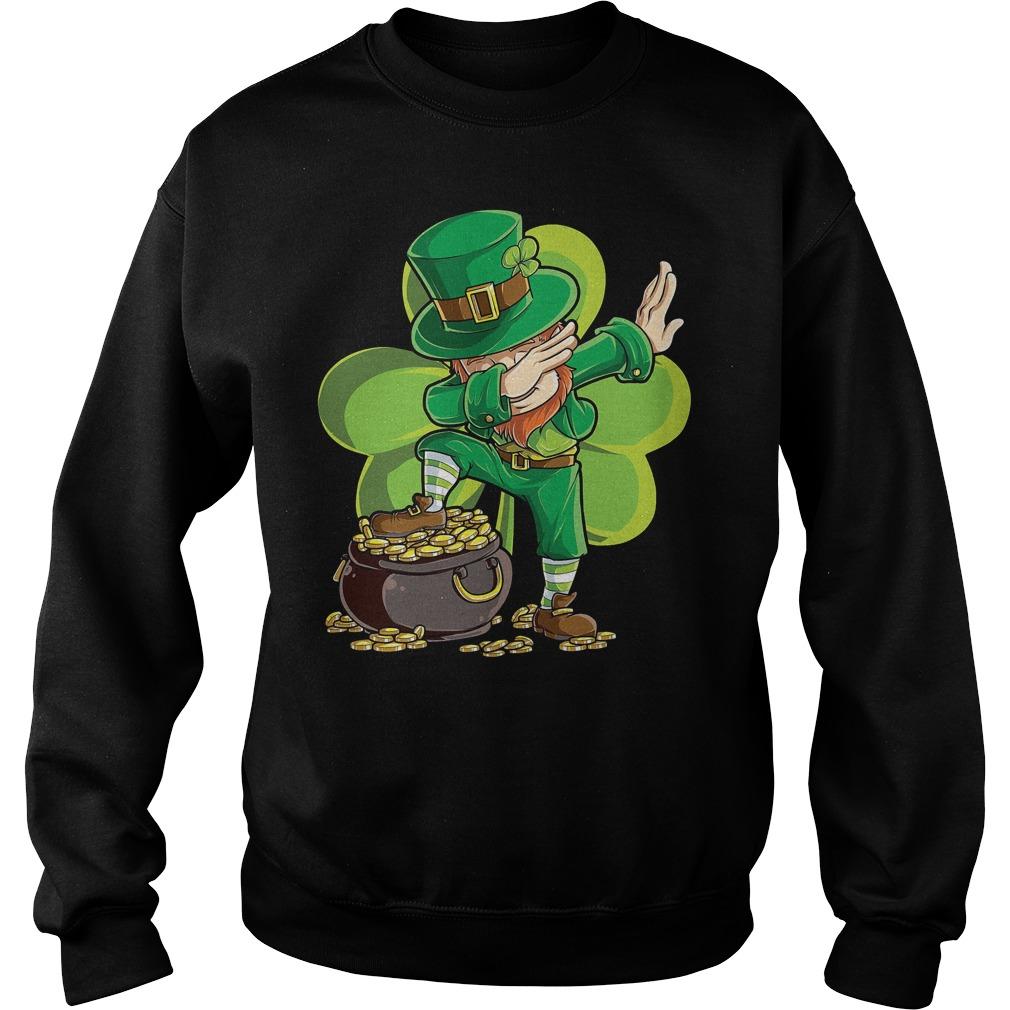 Dabbing Leprechaun St Patricks Day Sweater