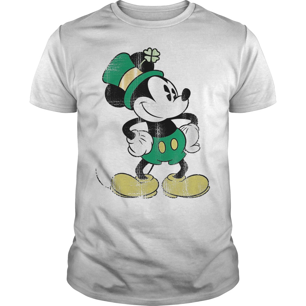 Disney Mickey Mouse St Patricks Day Shirt