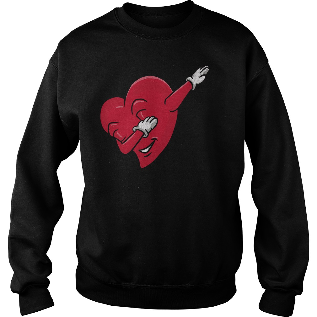 Funny Dabbing Heart Valentines Sweater