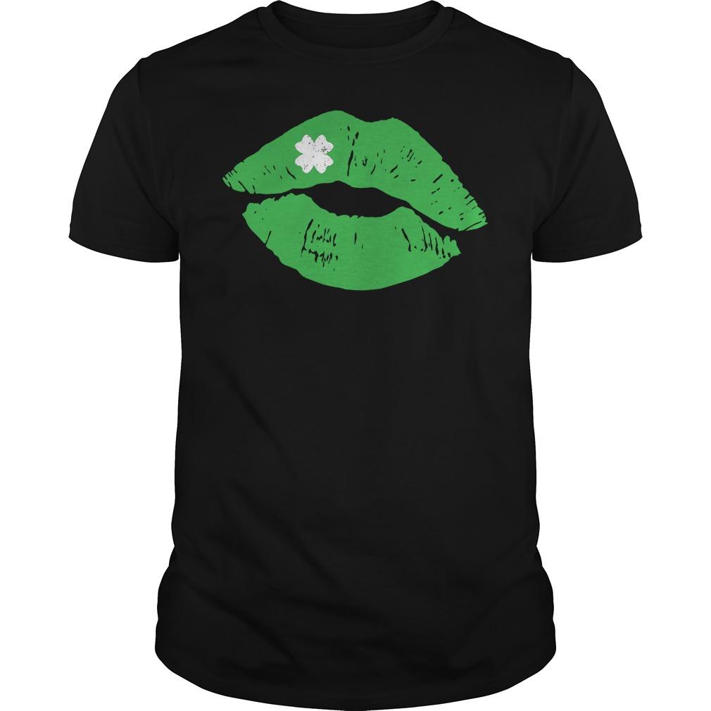 Green Lipstick Shamrock Kiss Shirt