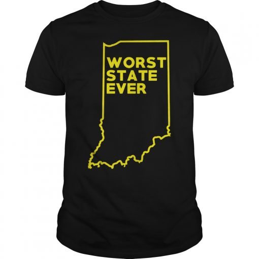 Indiana Worst State Ever Guy Tee