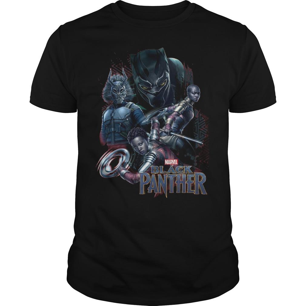 Marvel Black Panther Movie Okoye Nakia Shirt