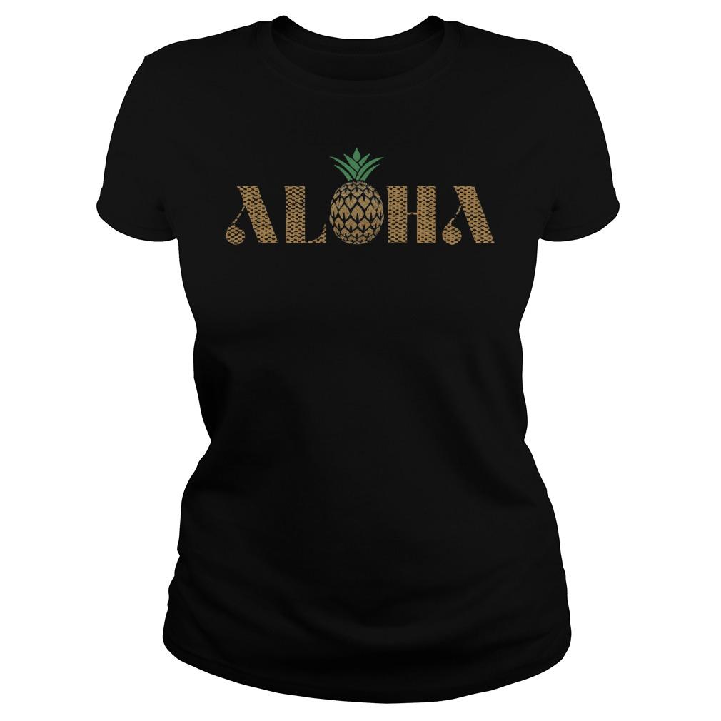 Vintage Aloha Pineapple Ladies