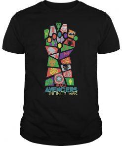 Avengers Infinity War Colorful Hand Shirt
