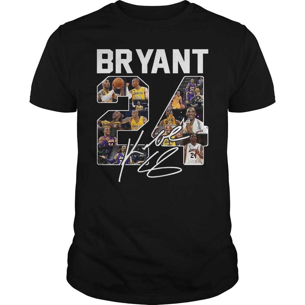 Bryant 24 Signed Autograph Shirt