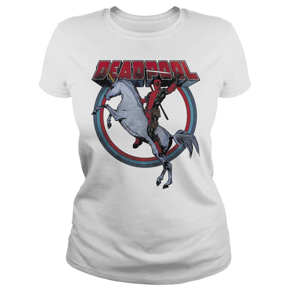 Deadpool Riding A Unicorn Circle Ladies