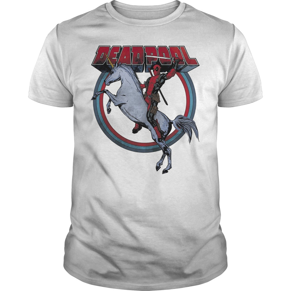 Deadpool Riding A Unicorn Circle Shirt