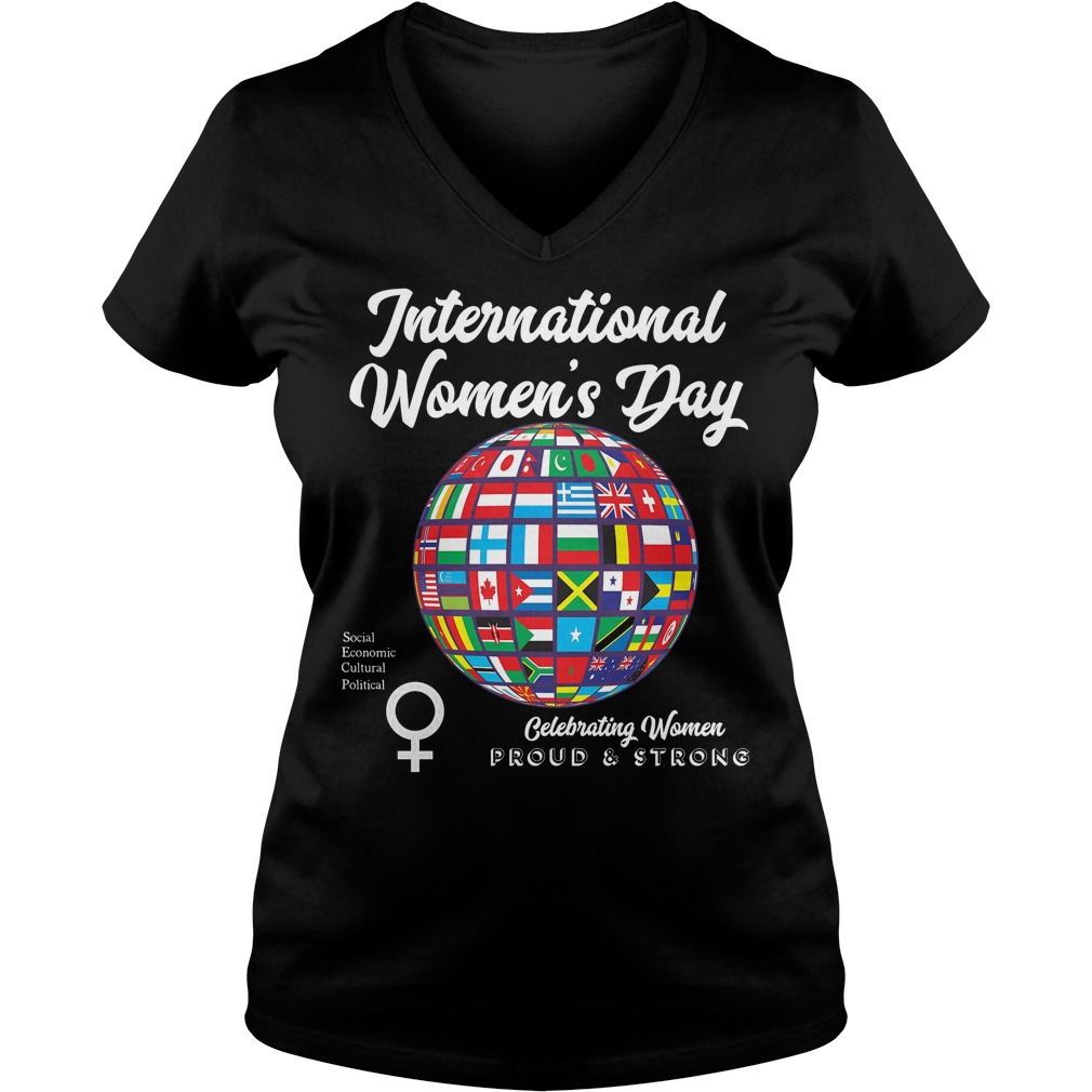 International Womens Day Proudstrong V Neck