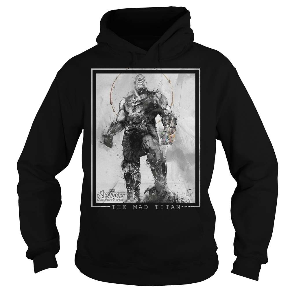 Marvel Avengers Infinity War Thanos Sketch Graphic Hoodie
