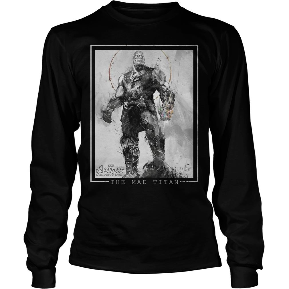 Marvel Avengers Infinity War Thanos Sketch Graphic Longsleeve