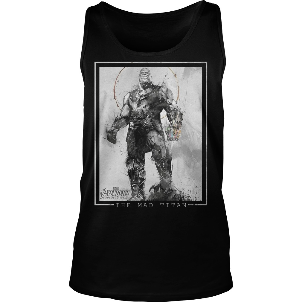 Marvel Avengers Infinity War Thanos Sketch Graphic Tanktop