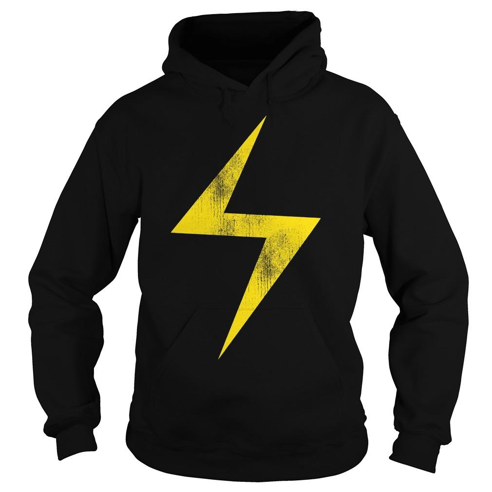 Marvel Ms Marvel Lightning Bolt Icon Hoodie