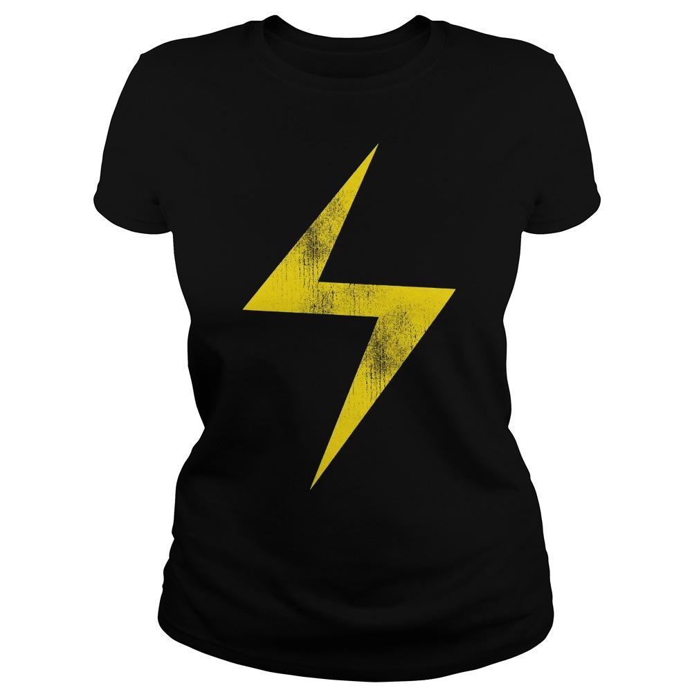 Marvel Ms Marvel Lightning Bolt Icon Ladies
