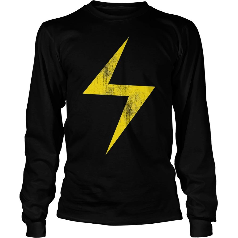 Marvel Ms Marvel Lightning Bolt Icon Longsleeve