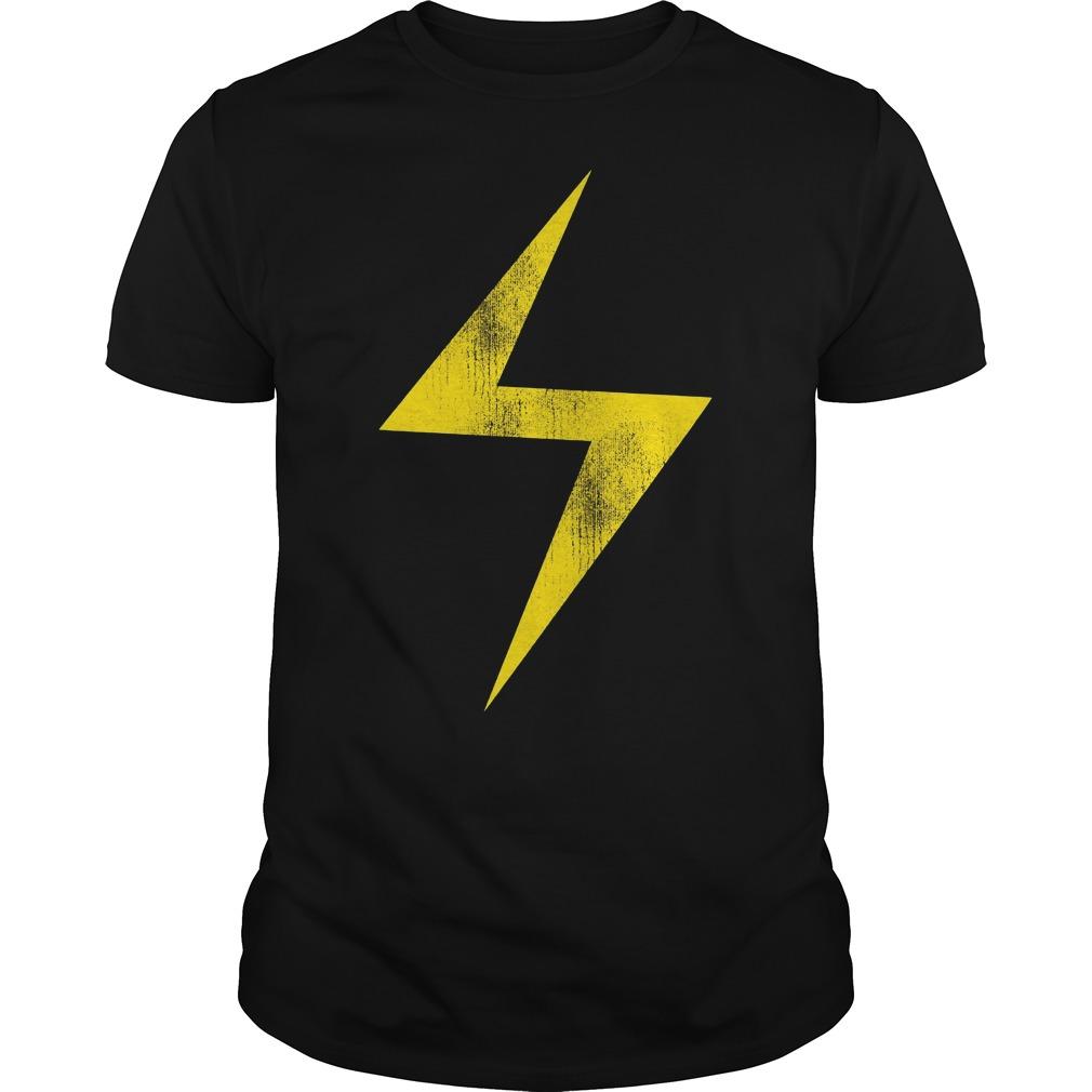 Marvel Ms Marvel Lightning Bolt Icon Shirt