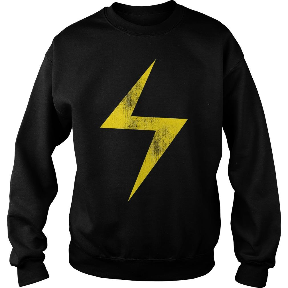 Marvel Ms Marvel Lightning Bolt Icon Sweater