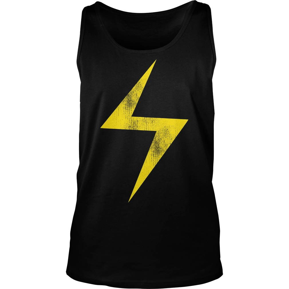 Marvel Ms Marvel Lightning Bolt Icon Tanktop