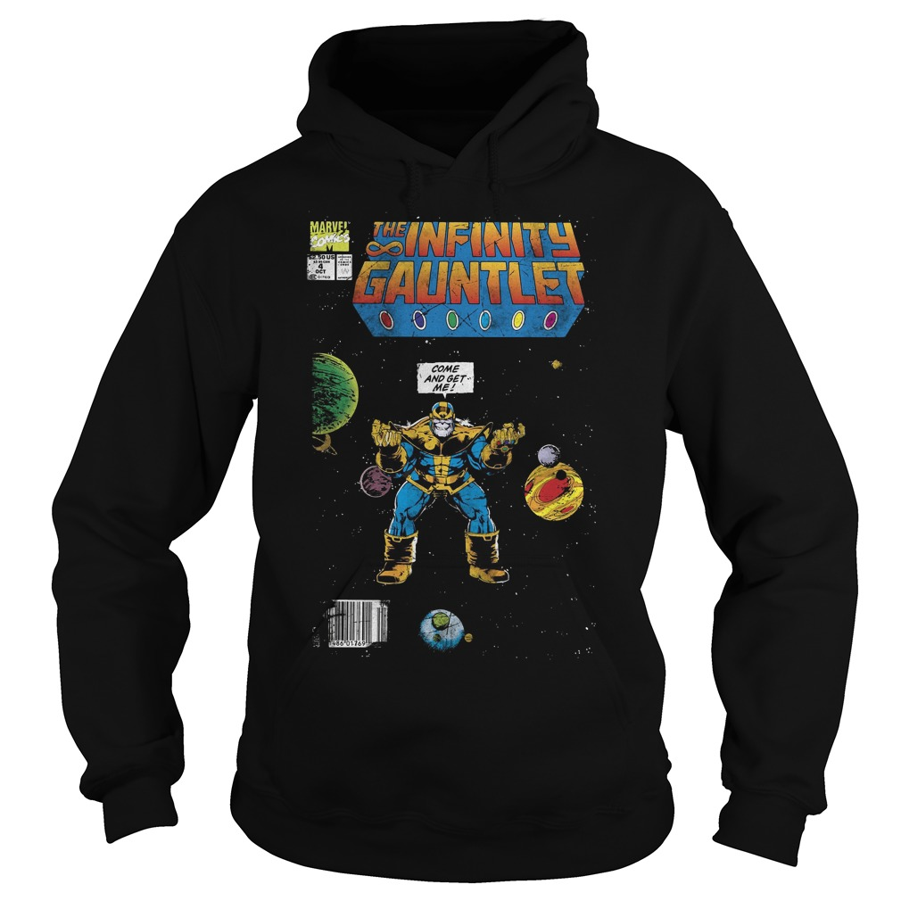 Marvel Thanos Infinity Gauntlet Comic Come And Get Me Hoodie
