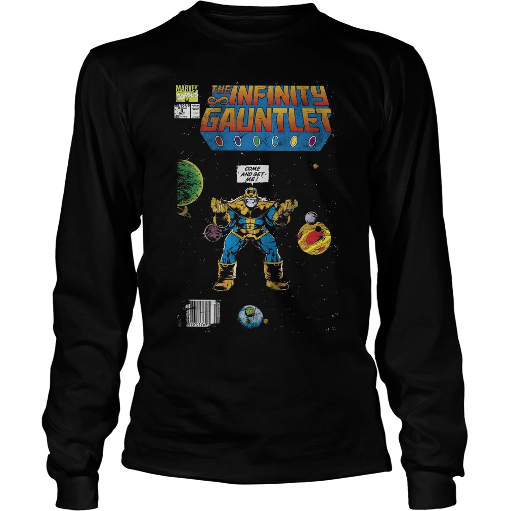 Marvel Thanos Infinity Gauntlet Comic Come And Get Me Longsleeve