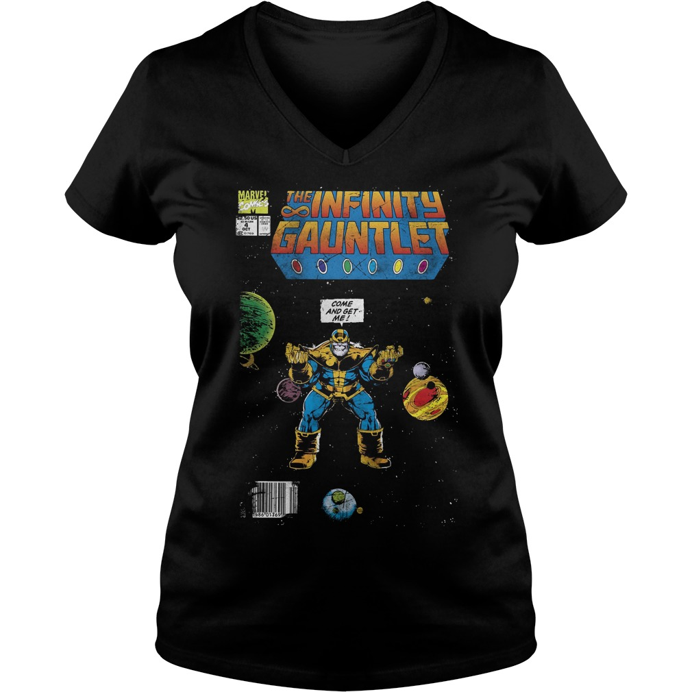 Marvel Thanos Infinity Gauntlet Comic Come And Get Me V Neck