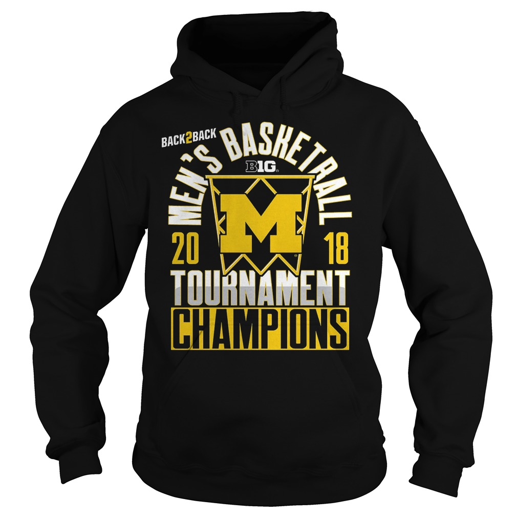 Michigan Big Ten Championship Mens Basketball Tournament Champions Hoodie