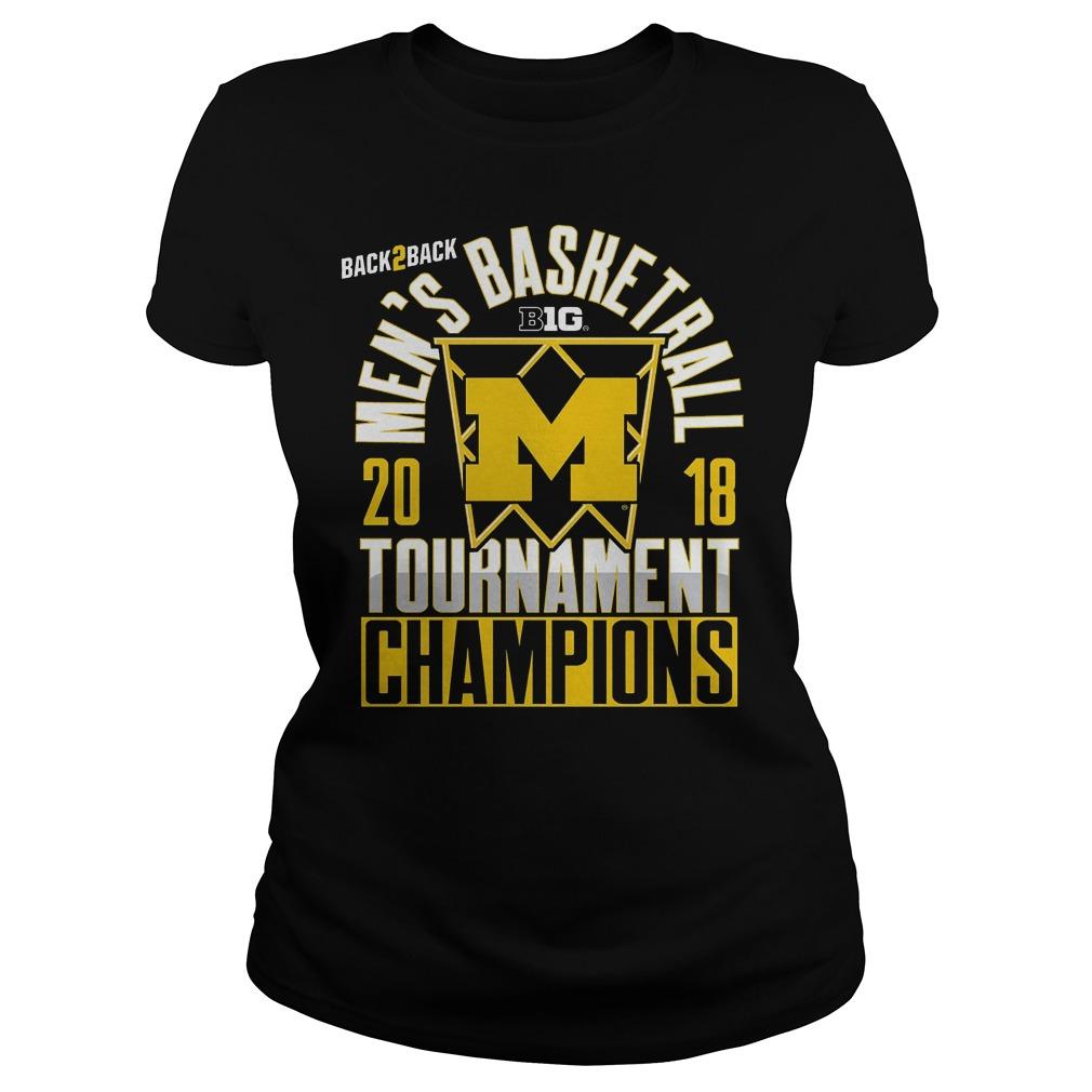 Michigan Big Ten Championship Mens Basketball Tournament Champions Ladies
