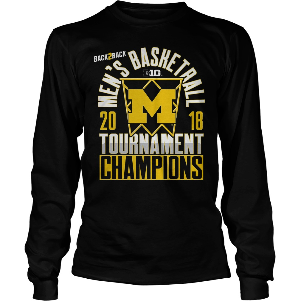 Michigan Big Ten Championship Mens Basketball Tournament Champions Longsleeve