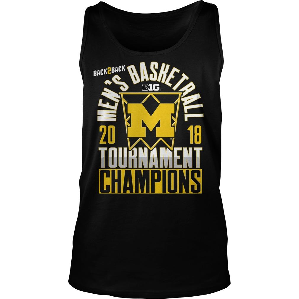 Michigan Big Ten Championship Mens Basketball Tournament Champions Tanktop