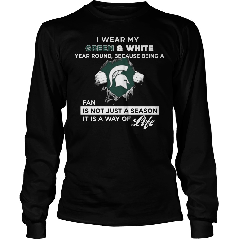 Michigan State Spartans Wear My Colors Longsleeve