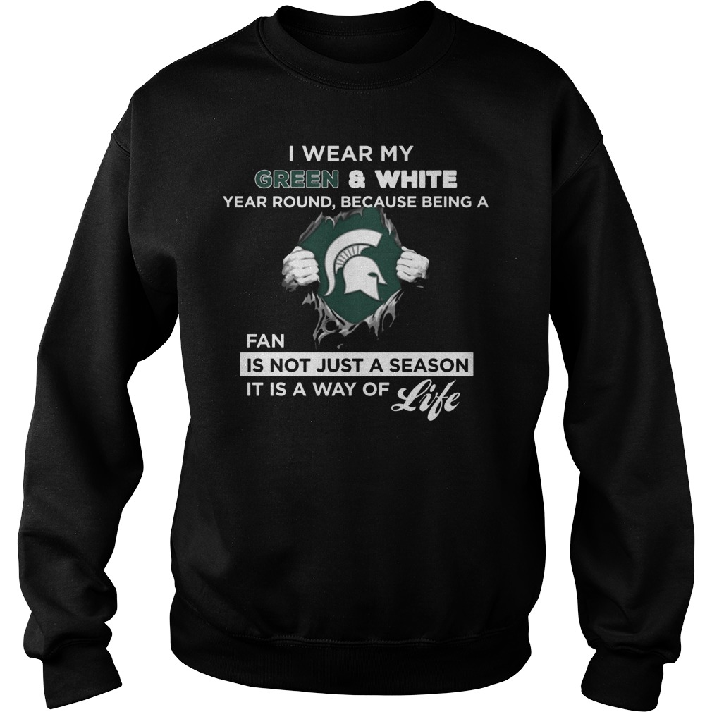 Michigan State Spartans Wear My Colors Sweater