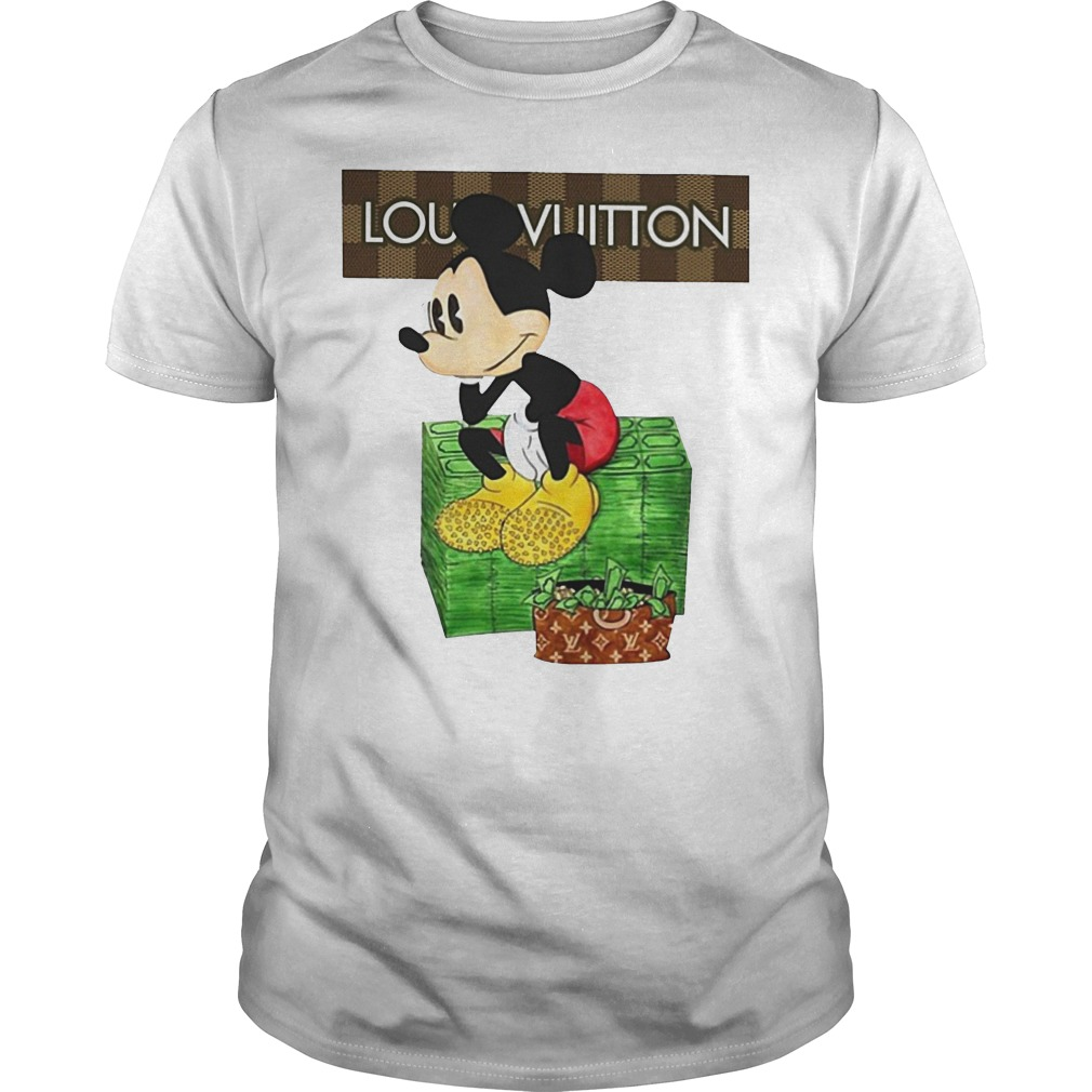 Official Louis Vuitton Lv Mickey Mouse Money Shirt