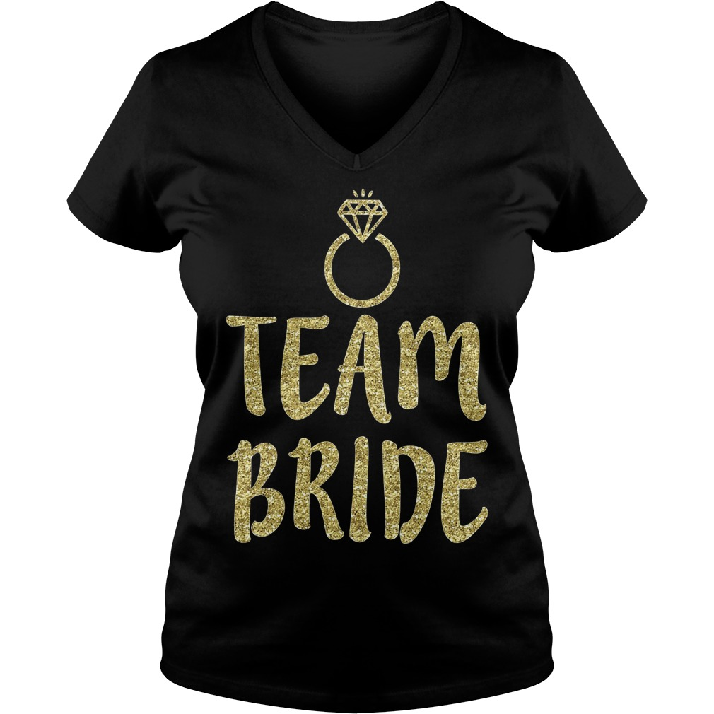 Team Bride Bachelorette Party Matching V Neck