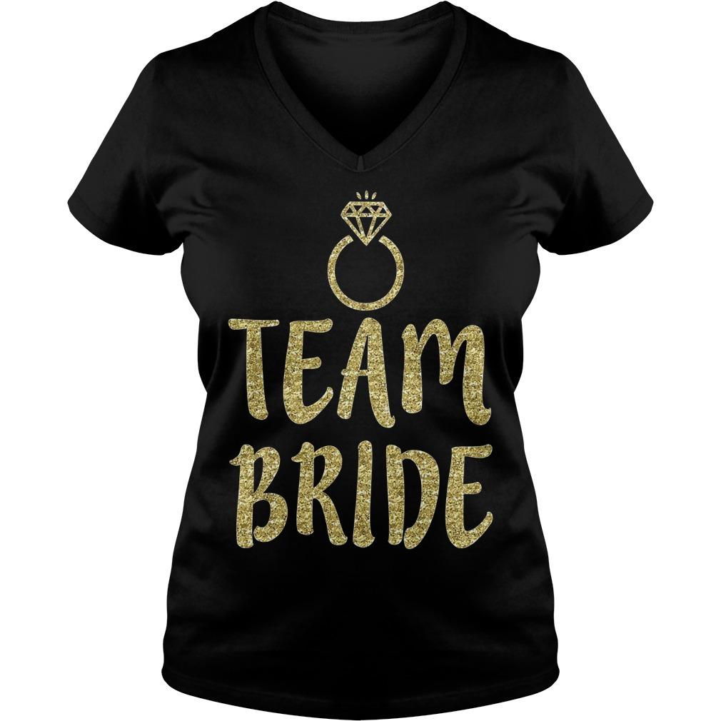 Team Bride Bachelorette Party Matching V Neck