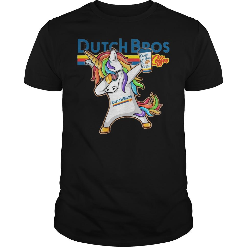 Unicorn Dabbing Dutch Bros Shirt